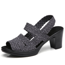 BestBuySale Women's Sandals Women's Fashion Summer Heel Sandal Shoes - Black