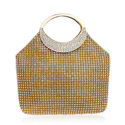 BestBuySale Clutch Bags Women's Awesome Rhinestones Wedding Clutch Bags - Gold,Silver
