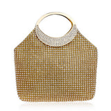 BestOnlineWomen's Awesome Rhinestones Wedding Clutch Bags - Gold,Silver