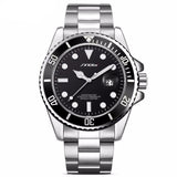 BestBuySaleFashion Luxury Men's  Stainless Steel Band With Date Display