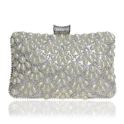 BestBuySale Clutch Bags Women's Fashion Crystal Beaded Clutch Bags -Red,Black,White,Gold,Blue,Silver,Black