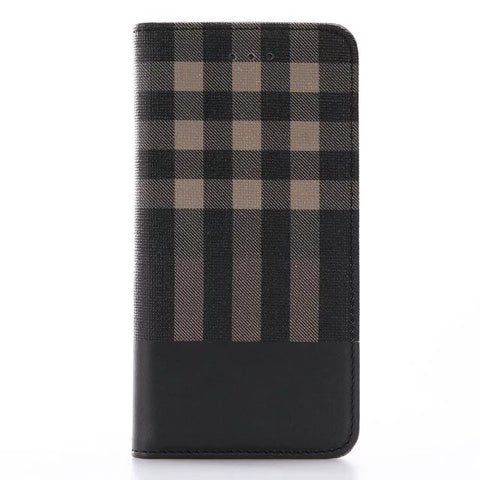 BestOnlineLuxury Wallet Grid Pattern Business Case for Apple IPhone X With Card Slot