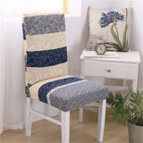 BestOnlineGeometric Floral Pattern Spandex Chair Cover