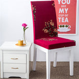 BestOnlineColorful Print Elastic Chair Cover