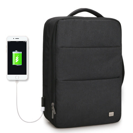 56d5a5e9b77a BestOnlineWaterproof USB Recharge 15 17 inch Laptop Backpack - Black