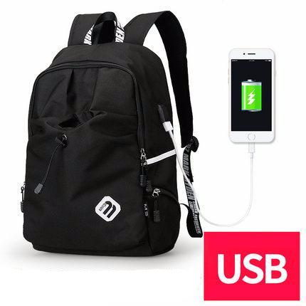 BestBuySale Backpack Fashion Student College Backpack With USB Charging