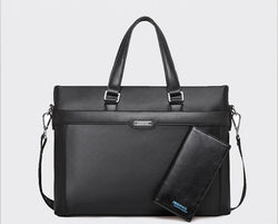 BestOnlineMen's Fashion  PU leather Briefcase + Wallet - Black,Blue,Brown