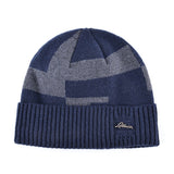 BestOnlineMen's Winter Fashion Knitted Beanie - Black,Gray,Blue
