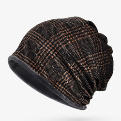 BestOnlineMen's Fashion Winter Striped Multi Function Beanie Hat/Collar Scarf