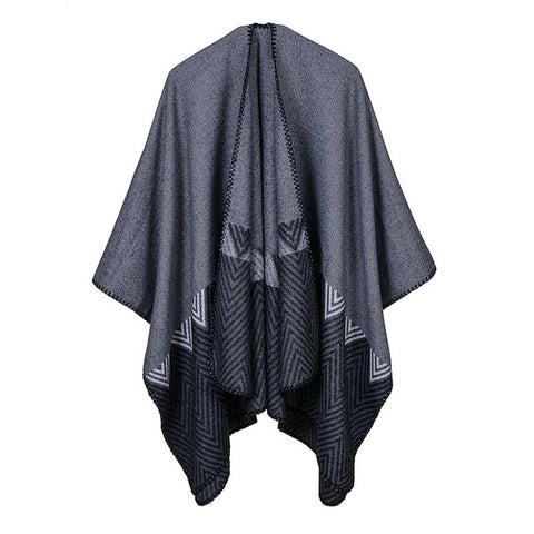 BestOnlineWomen's Winter solid Color Fashion Poncho Scarf - 6 Colors