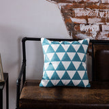 BestBuySaleEmbroidered Blue Geometric Pillow Cushion Cover - 45x45cm - 10 Designs