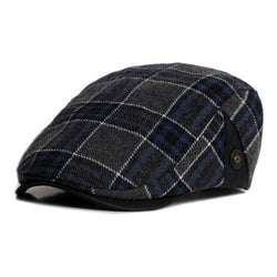 BestBuySale Beret Hat Plaid Beret Hat for Men - Dark Blue Plaid,Dark Yellow Plaid,Dark Gray Plaid