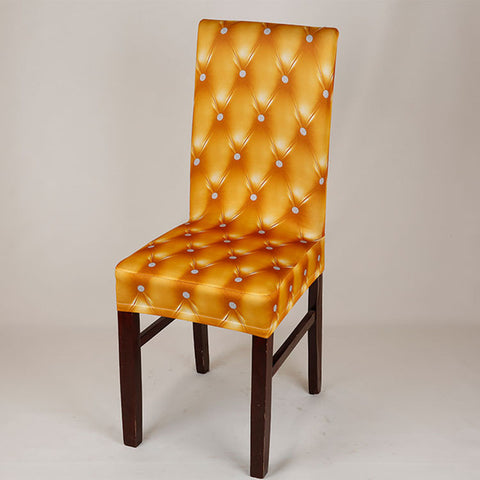 BestOnlineEuropean Classical Elastic Chair Covers - Gold,Red,Royal Blue,Black,Champagne,Gray,Coffee