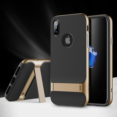 BestBuySaleKickstand Case for iPhone X - Gold,Red,Dark Blue,Grey
