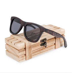 BestOnlineFashion  Wooden Frame Polarized Sunglasses in Wood Box