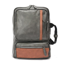 BestOnlineFashion PU Leather Backpack For Men - Black,Gray