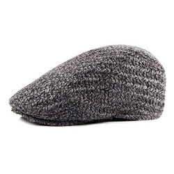 BestBuySale Beret Hat Men's Fashion Knitted Winter Beret Hat - Gray,Black