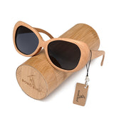 BestBuySale Sunglasses Fashion Polarized  Handmade Wooden Pilot Sunglasses With Wood Box Case