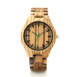 BestBuySale Wooden Watch Fashion Men's Zebra Wood Watches