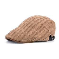 BestBuySale Beret Hat Winter Cotton Beret Hat For Men - Khaki,Black,Navy,Coffee,Grey