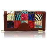 BestBuySale Wallets 3 Fold Fashion Patchwork Women's Wallets - Brown,Red,Black