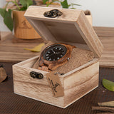 BestOnlineMen's Ebony/Zebra Roman Numeral Wooden Watch in Wooden Gift Box