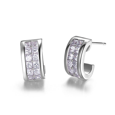 BestBuySale Earrings Women's Luxury Clear Cubic Zirconia Stud Earrings