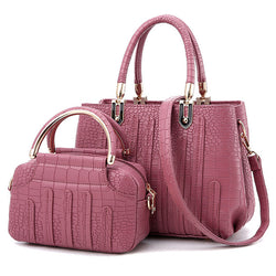 BestOnlineFashion Pu Leather Women's Tote Bags  Set - Purple,Black,Gray,Pink,White,Blue,Red