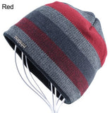 BestOnlineKnitted Wool Beanies Hats for Men - White,Red,Yellow,Brown