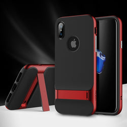 BestOnlineKickstand Case for iPhone X - Gold,Red,Dark Blue,Grey