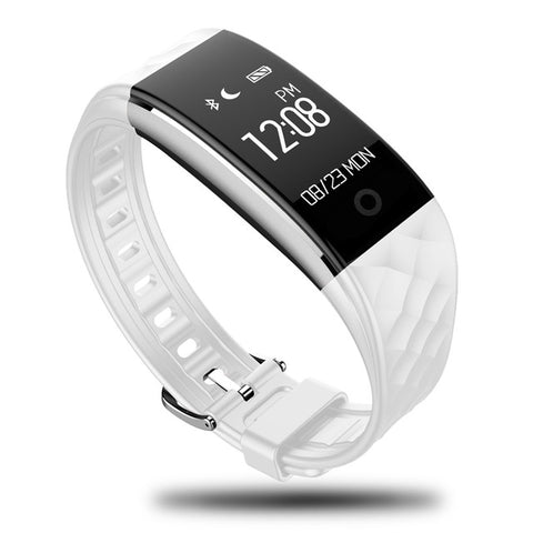 BestOnlinePINWEI S2 Smart Wristband With Heart Rate Monitor IP67 Waterproof Bluetooth For iOS Android