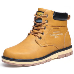 BestBuySale Boots Men's High Quality PU Leather Winter/Autumn Boots -Black,Blue,Brown,Yellow