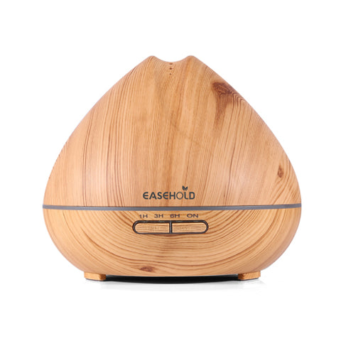 BestBuySale Humidifier Changing LED Lights 400ml  Ultrasonic Air Humidifier/Aroma Essential Oil Diffuser with Wood Grain