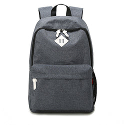 BestBuySale Backpack Fashion Canvas Backpack - Red,Dark Gray,Light Gray,Lake Blue,Gray,Orange,Light Coffee