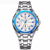 BestOnlineMen's Stainless Steel Fashion Watch - Blackgold,Silverblack,Silverblue