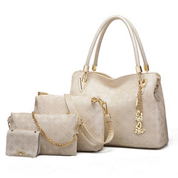 BestBuySale Bags Set Women's Fashion Shoulder Bags - 4 Pieces Bags Set - White,Black,Gold,Blue