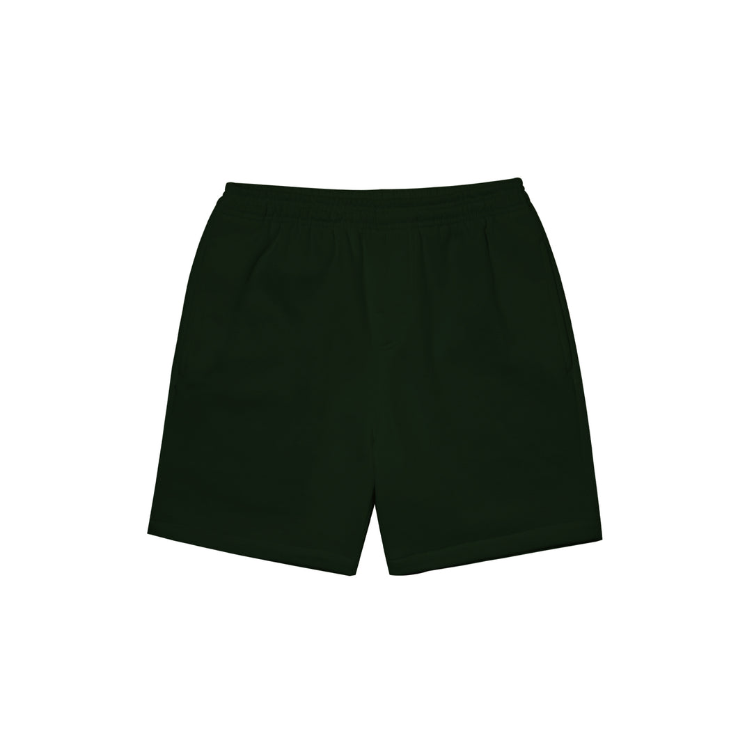 HUNTER GREEN SWEATSHORTS