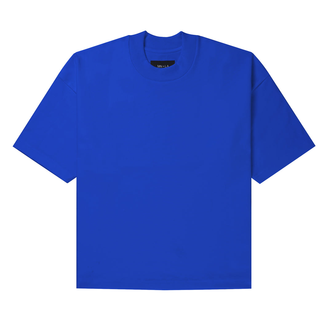 ULTRA HEAVY ELECTRIC BLUE MOCK NECK TEE