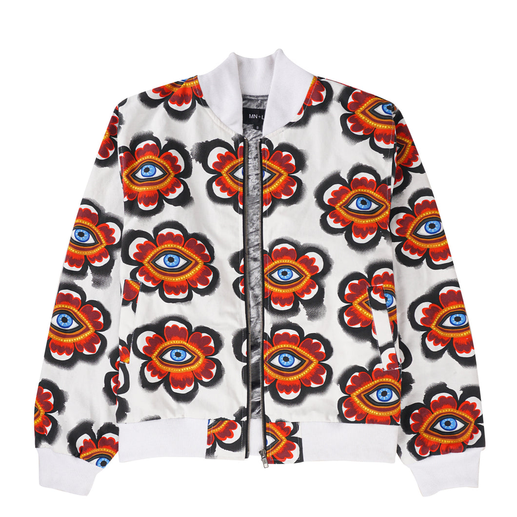 EYES ON YOU BOMBER JACKET