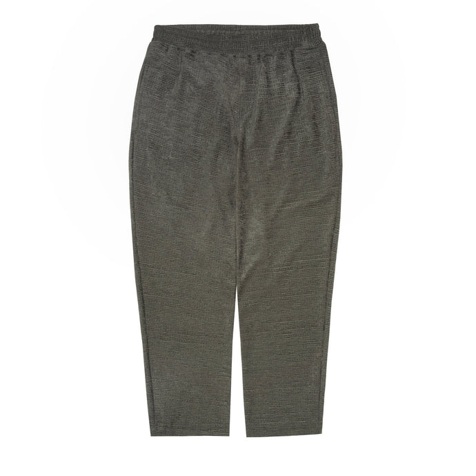 SEERSUCKER CROPPED PANTS IN OLIVE