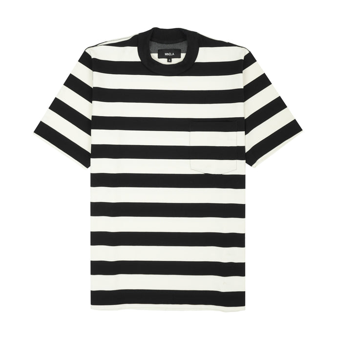 STRIPED OVERSIZED POCKET TEE