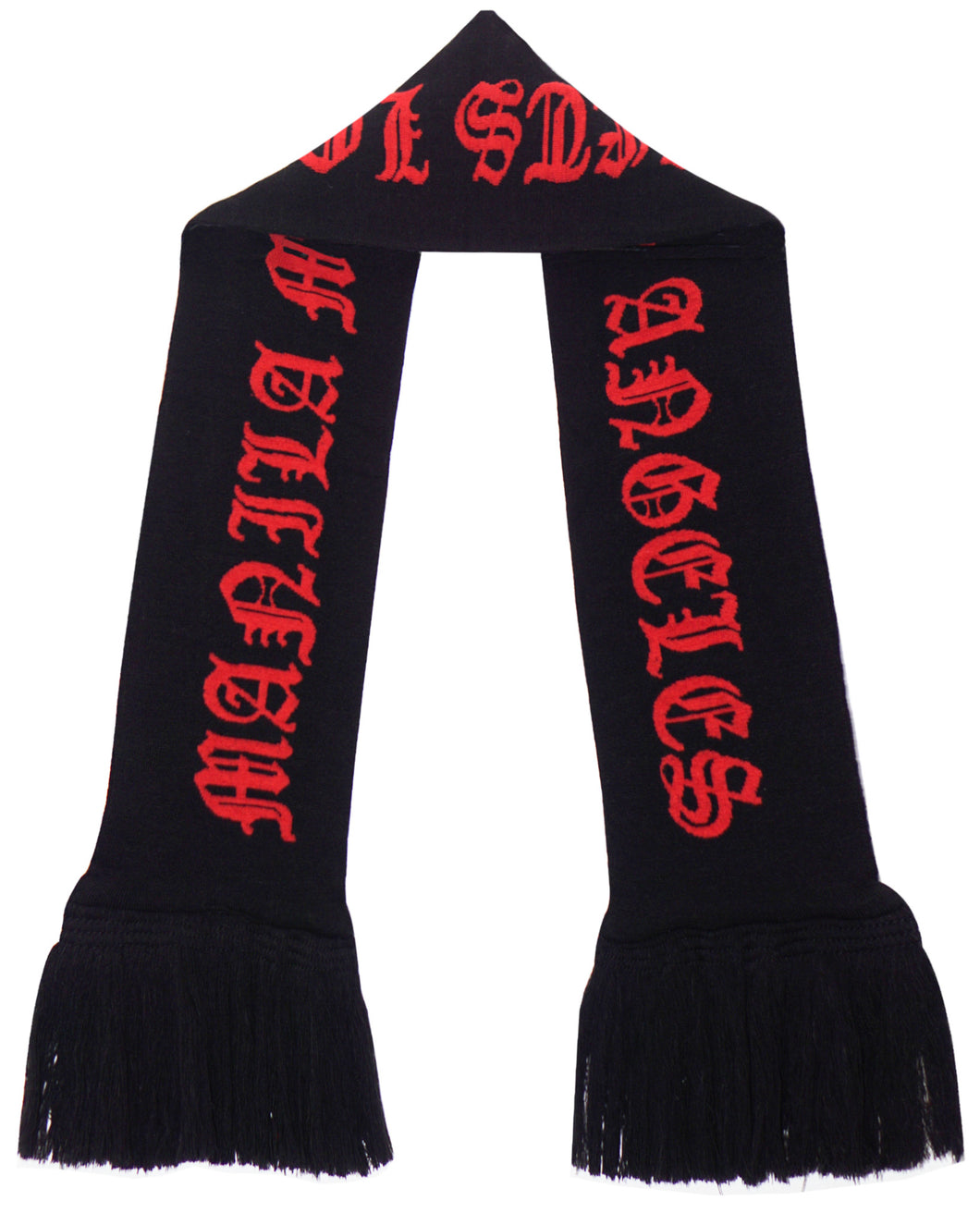 ANTHRACITE/RARRI RED MN+LA KNITTED SCARF