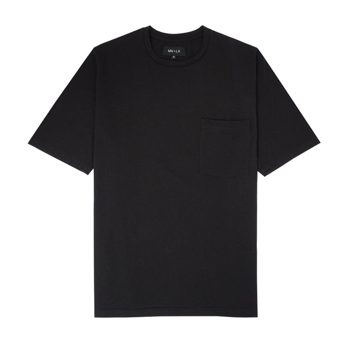 BLACK COFFEE OVERSIZED POCKET TEE