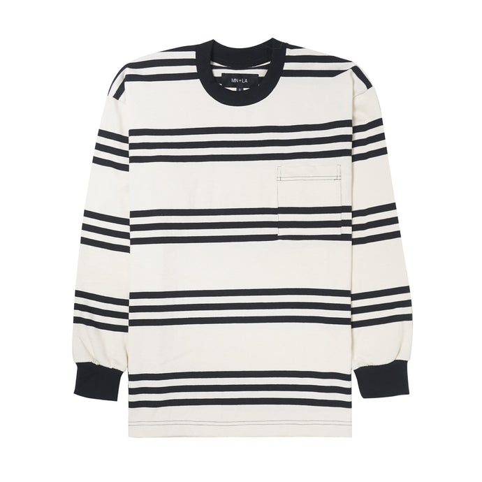 STRIPED POCKET LONGSLEEVE TEE