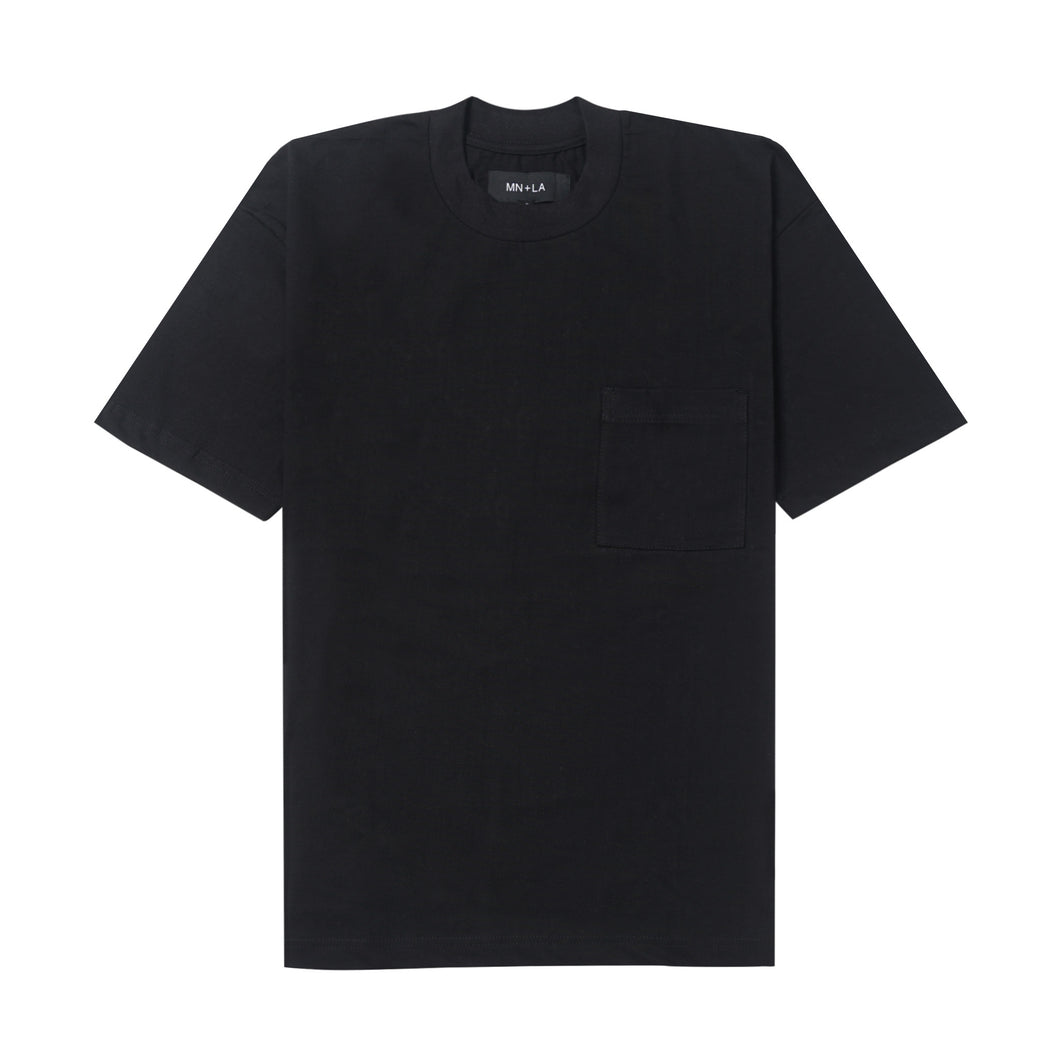 ULTRA HEAVY ANTHRACITE POCKET BOX TEE