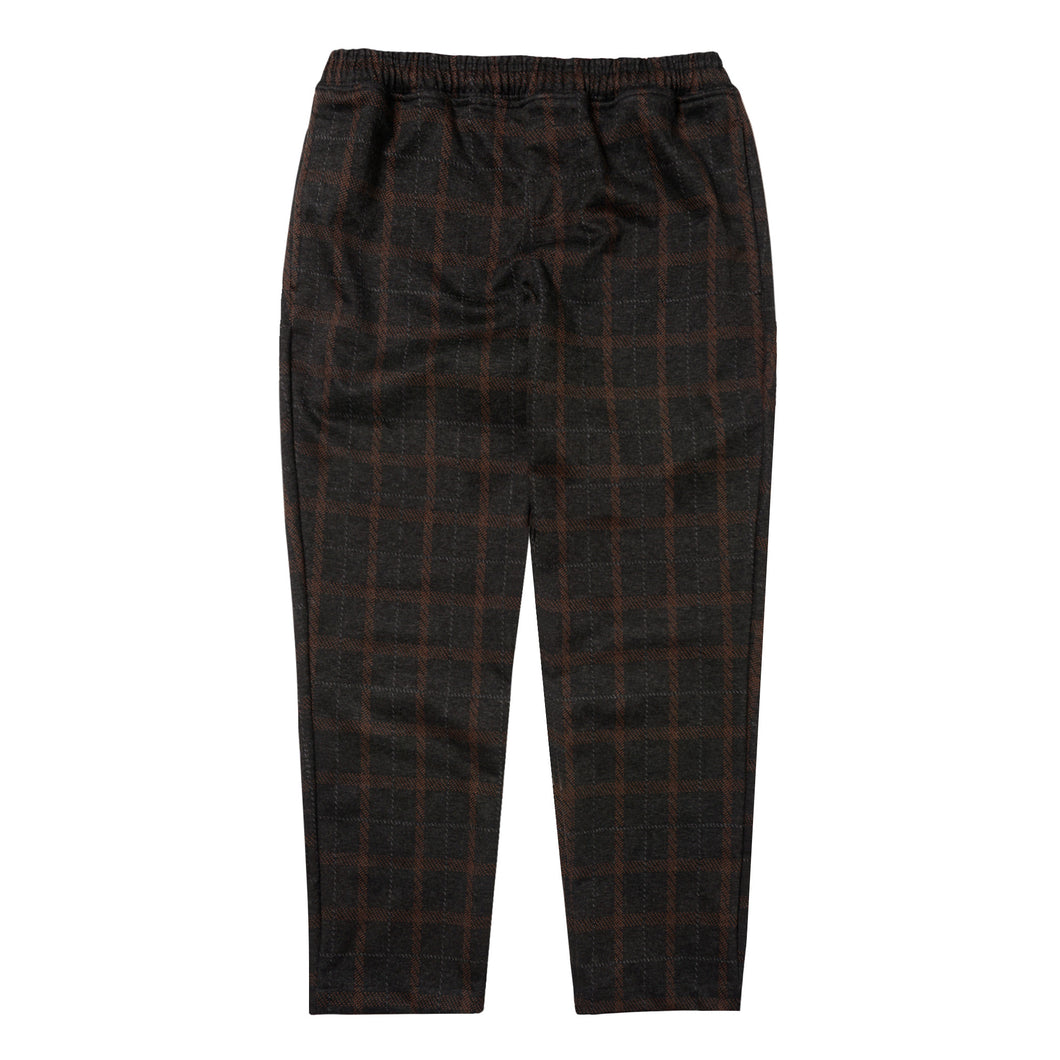 GREY/RUST PLAID LOUNGE PANTS