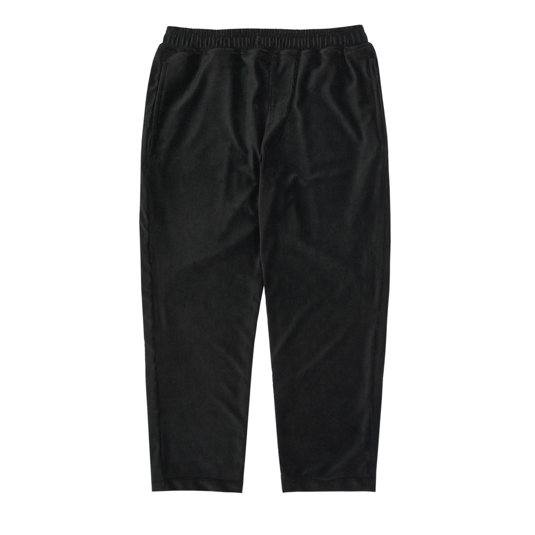 BLACK VELOUR CORDUROY CROPPED PANTS
