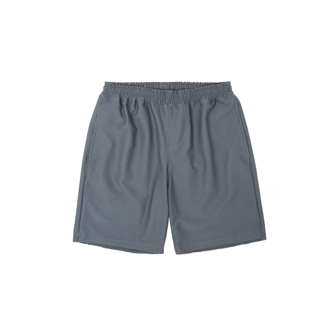 PALE GREY RAW HEM SHORTS