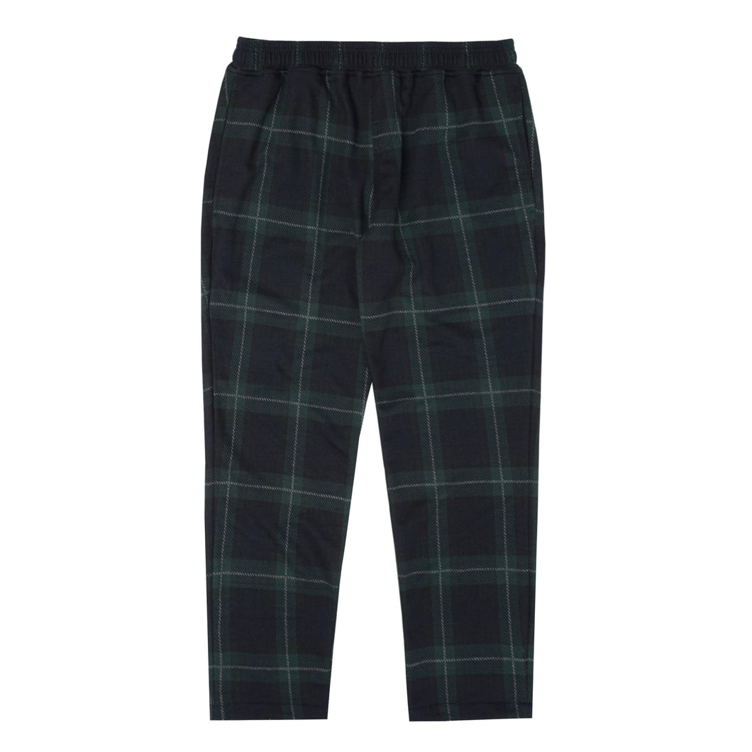 GREEN/BLACK TARTAN LOUNGE PANTS