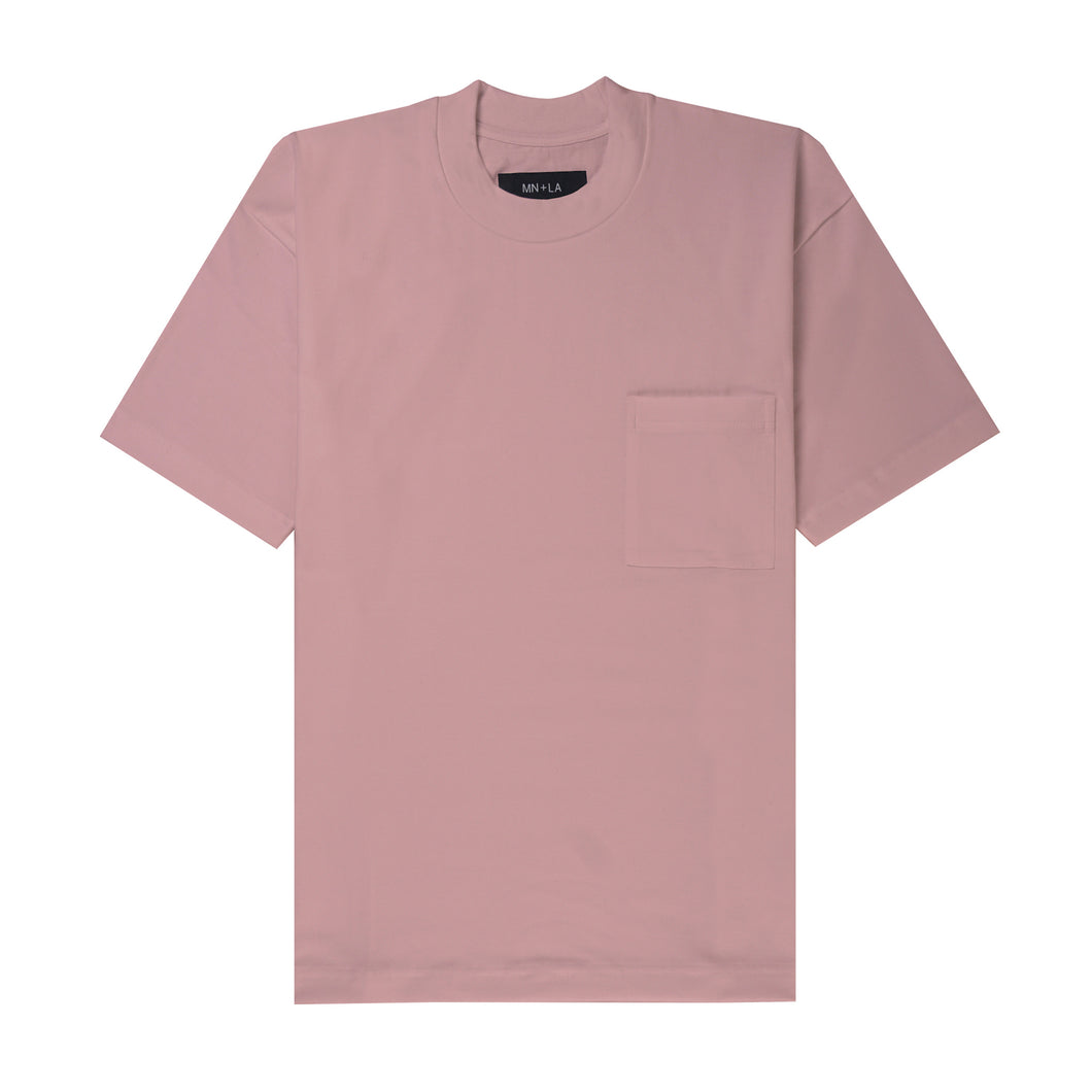 ULTRA HEAVY ROSE QUARTZ POCKET BOX TEE